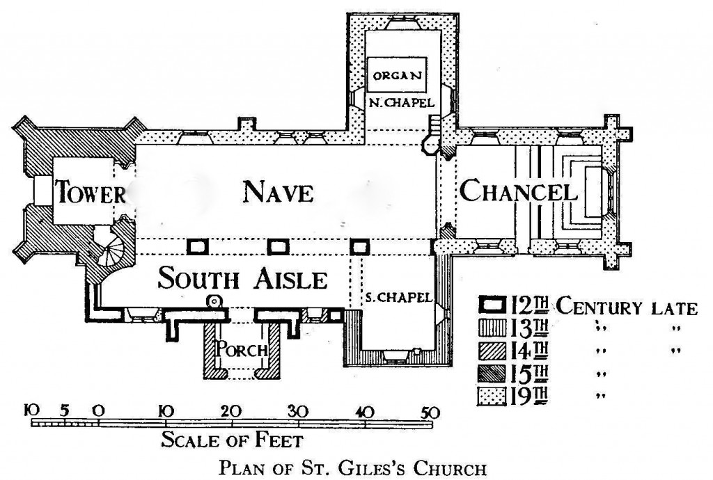 plan of St giles